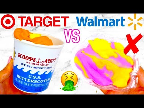 TARGET SLIME VS WALMART SLIME! Which Is Worth It?!? + Selling My Clothes!