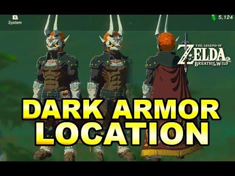 Zelda Breath Of The Wild DLC 2 Ex Treasure Dark Armor Location Guide