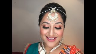 GRWM: Garba Makeup Tutorial using Juvia's Place shadows ** B Beautiful by Binita**