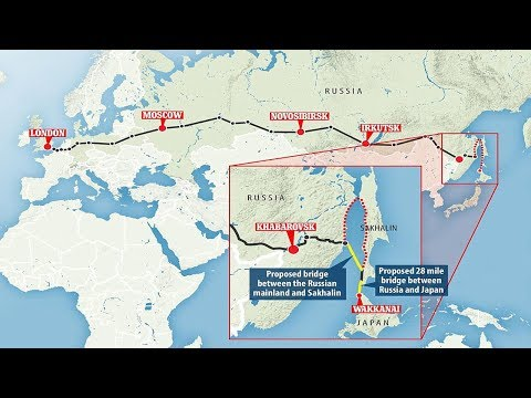 From London to Tokyo by TRAIN: Epic new 8,400 mile route will link the Trans-Siberian railway
