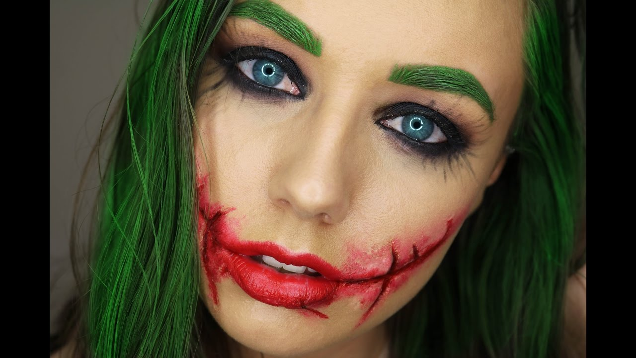 Heath Ledgers The Joker Female Version Make Up 31 Days Of Halloween