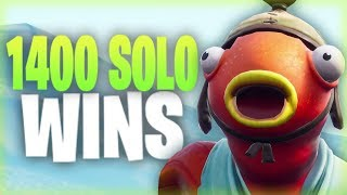 Fortnite - 1400+ Solo Wins. :)