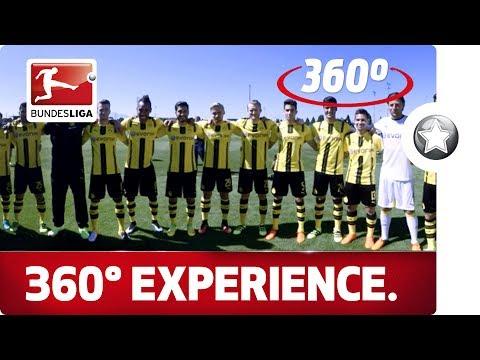 360 Degree Borussia Dortmund Team Huddle - Up Close With Pulisic, Dembele & Co.