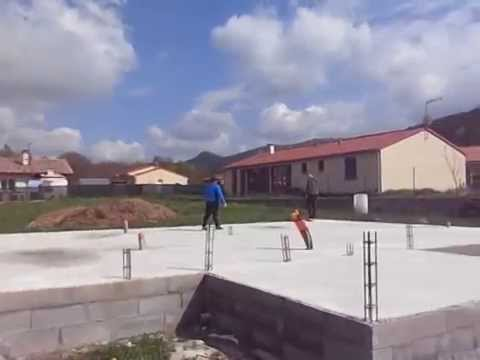 Building a house in France: Foundation stage completed
