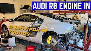 INSTALLING My BRAND NEW Audi R8 ENGINE