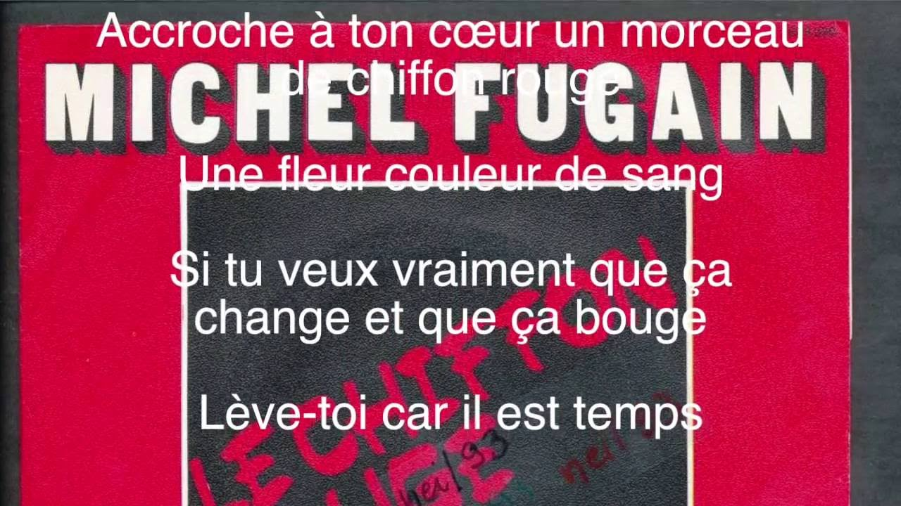 france pas cher vente super promotions en soldes Le chiffon rouge - Michel FUGAIN - Paroles