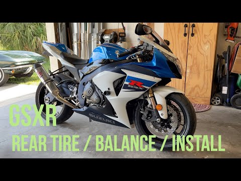 How To Suzuki GSXR Rear Wheel Remove, Balance and Install.