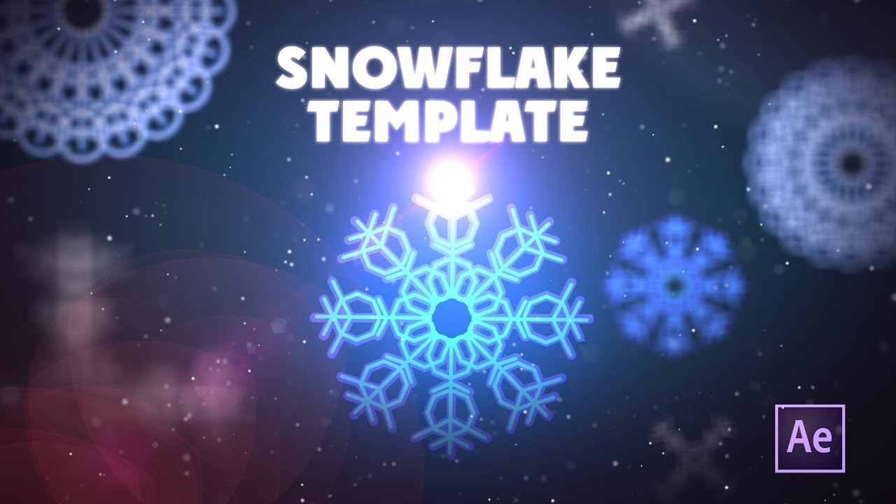 Create animated snowflake template in After Effects
