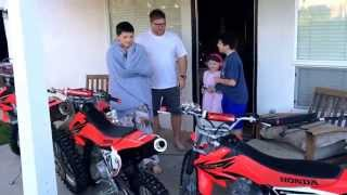 Dirt bikes for Christmas!