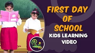 School Ka Pahla Din   First day of School   Kids Learning Videos - Pari TV   4K Video