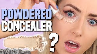 TESTING POWDERED CONCEALER?!? || Full Day Wear Test WITHOUT SETTING IT