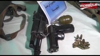 الأسلحة المحجوزة في العمليات الارهابية الأخيرة