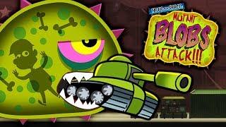 ХИЩНЫЙ СЛИЗЕНЬ МУТАНТ ест ТАНКИ НА ВОЕННОЙ БАЗЕ Мульт игра про ГОЛОДНОГО СЛИЗНЯ Mutant Blobs Attack