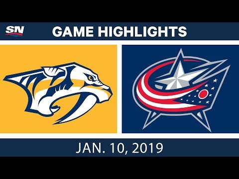 NHL Highlights | Predators vs. Blue Jackets - Jan. 10, 2019