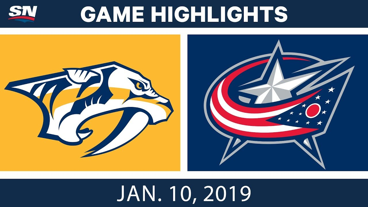 NHL Highlights | Predators vs. Blue Jackets - Jan. 10, 2019