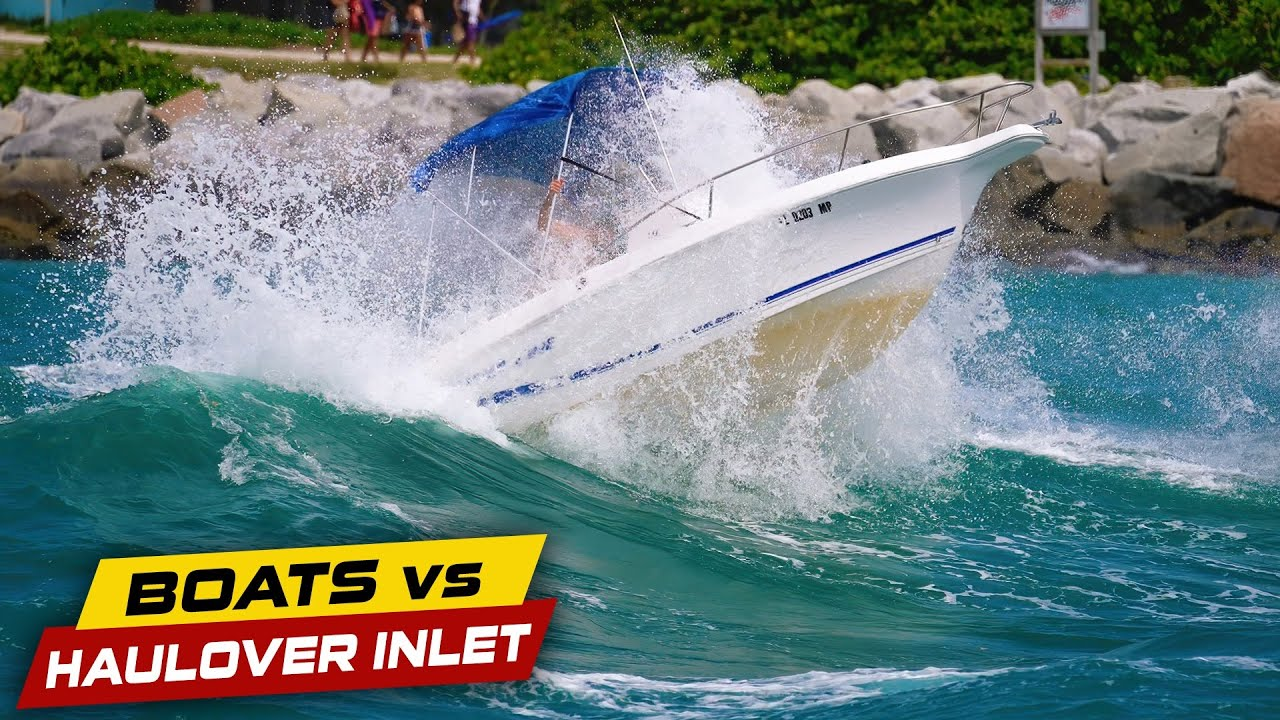 HOW TO FILL YOUR BOAT WITH WATER!   Boats vs Haulover Inlet