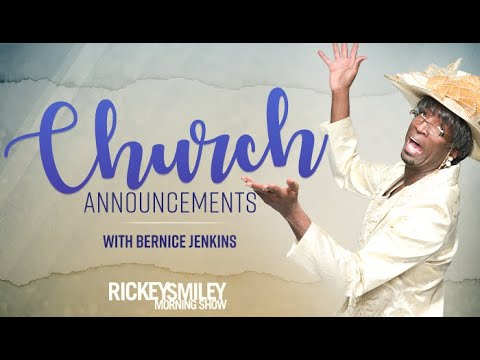 Rickey Smiley - Church Announcements w/ Bernice Jenkins: Overweight Members Who Sweat A-lot
