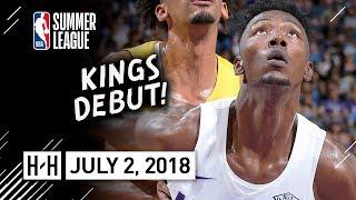 Harry Giles III Full Kings Debut Highlights vs Lakers (2018.07.02) Summer League - 13 Pts