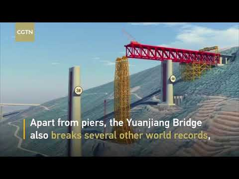 The first high pier of China Laos High Speed Railway is under construction