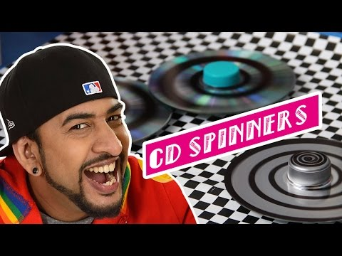 Mad Stuff With Rob - How To Make CD Spinners | Earth Day Special | DIY Craft For Children