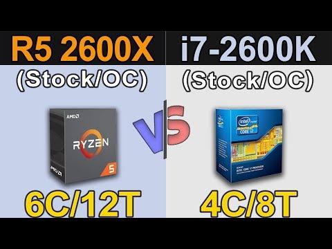 Ryzen 5 2600X vs i7-2600K | New Games Benchmarks