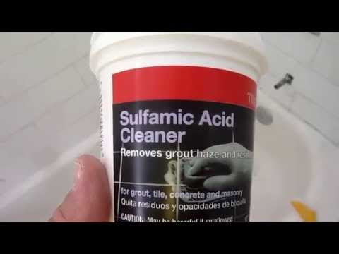 How to clean dried grout from ceramic tile - IT WORKS!