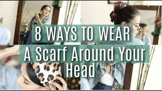 8 EASY Ways To Wear A Scarf Around Your Head! | Komal Pandey