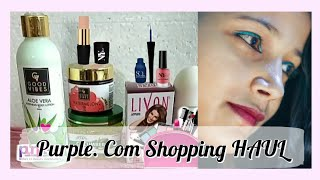 PURPLE HAUL VIDEO WITH QUICK REVIEW OF SKIN CARE & MAKEUP PRODUCTS UNDER RS 200 | BEST FOR STUDENTS