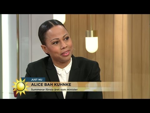 """Alice Bah Kuhnke: """"Det mest utmanande året i mitt liv"""" - Nyhetsmorgon (TV4)"""