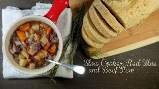 Slow Cooker Red Wine and Beef Stew Recipe