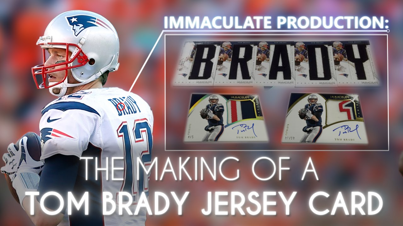 buy cheap 6fbbe 5b785 Immaculate Production: The Making of a Tom Brady Game-Worn Jersey Card