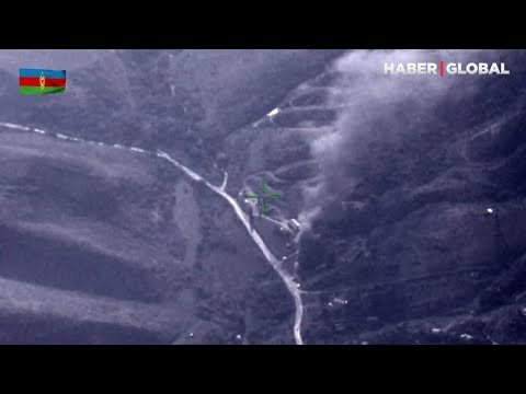 Azerbaycan Ordusu Ermenistan'ın Yakıt ve Mühimmat Depolarını Böyle Yok Etti