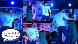 Sushant Singh & Kriti Sanon Crazy Dance on Main Tera Boyfriend Song At Kolkata city centre