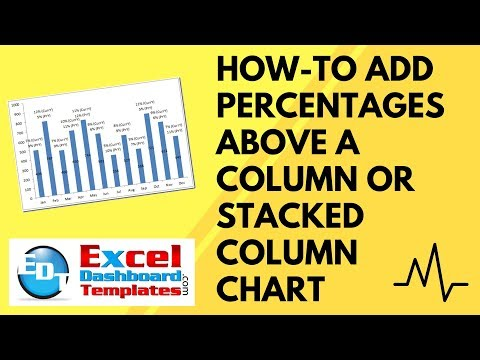 How-to Add Percentages Above a Column or Stacked Column Chart in Excel
