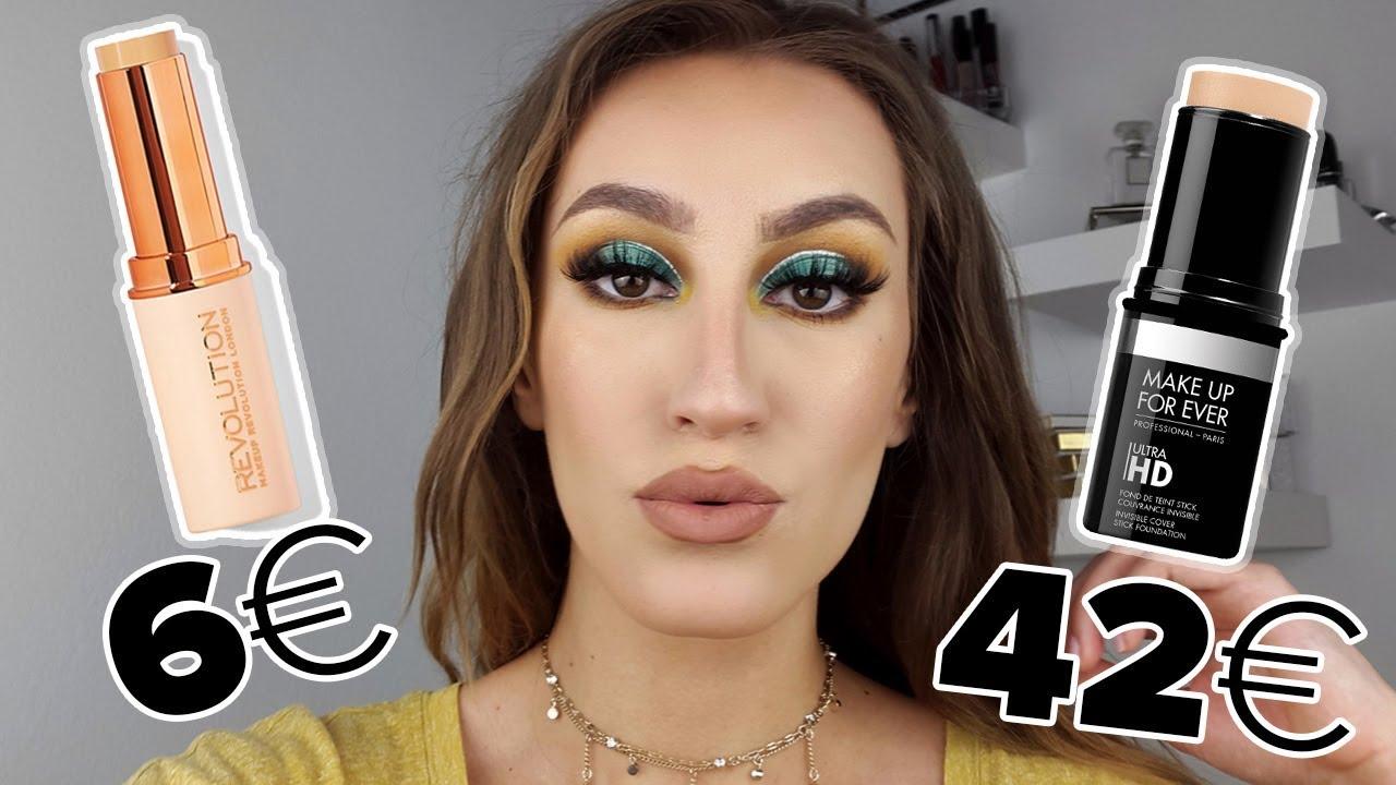 Makeup Forever HD Stick Foundation VS Makeup Revolution DUPE? Μοιάζουν?   Sonia Th