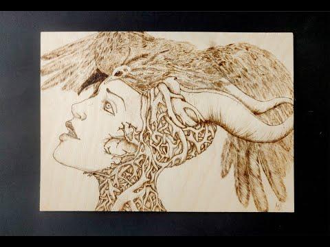 Pirography Illustration: Maleficent | Il Lupo E Il Drago