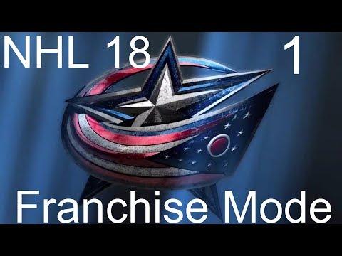 NHL 18 Franchise Mode: Columbus Blue Jackets S1 Episode 1 // Let's Go CBJ! (XBone)
