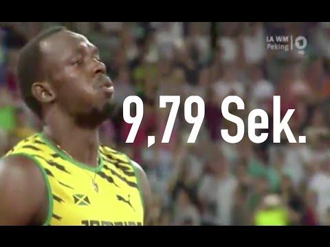 Usain Bolt 100m Sprint Finale Leichtathletik Wm Peking 2015 Youtube