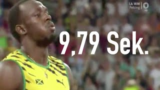 Usain Bolt 100m Sprint Finale Leichtathletik WM Peking 2015