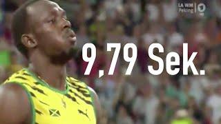 Usain Bolt 100m Sprint Finale Leichtathletik WM Peking 2015