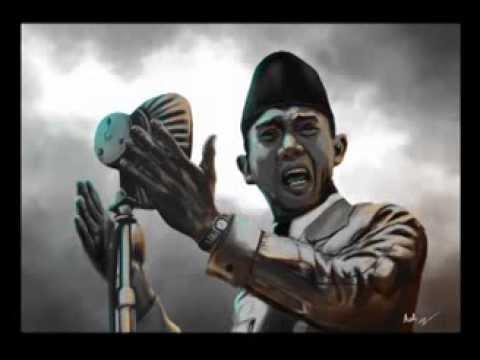 Soekarno Digital Painting by Audi Moslem