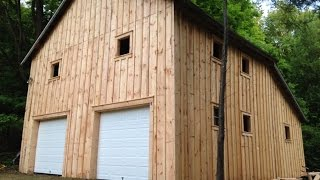 How We Trim Out A Window For Rough Cut Board & Batten Barn Siding