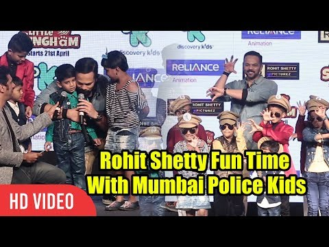Rohit Shetty Fun Time With Mumbai Police Kids | Little Singham Animation Movie Launch