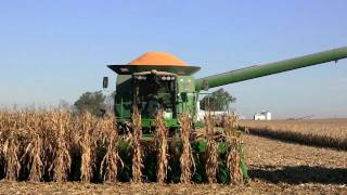 Kuhn Farms, John Deere 9770 STS Combine on 11-4-2011