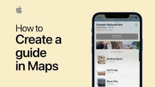 How to create a guide in Maps on iPhone, iPad, and iPod touch — Apple Support