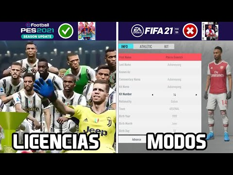 14 COSAS QUE ESTARÁN EN PES 2021 Y NO EN FIFA 21