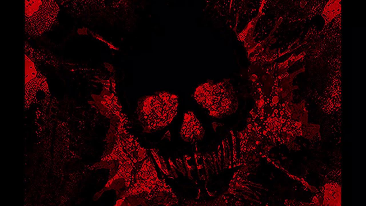 Blood red skull Wallpaper Video - YouTube