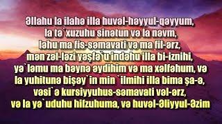 aYATUL KURSI DUASI AZERBAYCAN