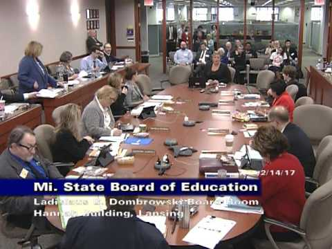 Michigan state board of education meeting for february 14 2017 michigan state board of education meeting for february 14 2017 morning session sciox Choice Image