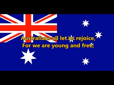 National anthem of Australia - Advance Australia Fair (lyrics)